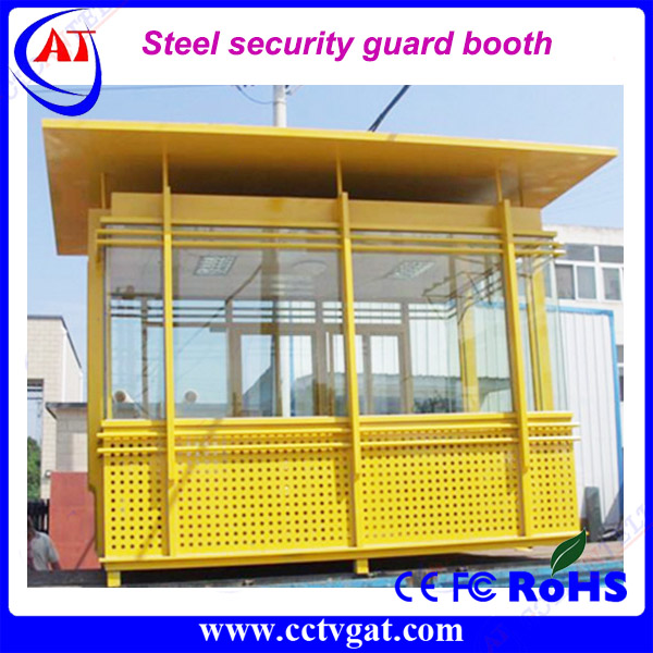 Light steel structure ourdoor mobile guard house inside with 5-hole socket,Concealed wire,working table