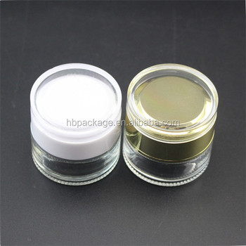 wholesale clear glass cream bottle cosmetic jar for personal care