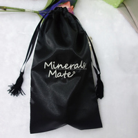2014 Eco-friendly Satin Gift Bags With Logo Printing And Tassels Drawstring