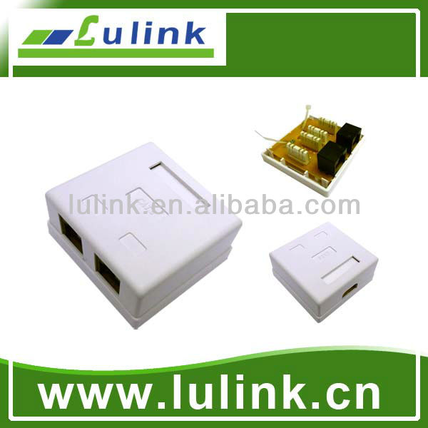 Cat6 UTP Dual Port Surface Jack