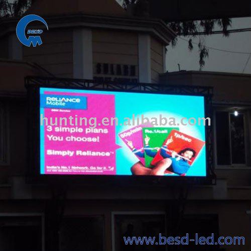 outdoor P10 led advertising video wall replacement led tv screen