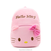 Pink Hello Kitty Plush Backpack Kindergarden School Bag