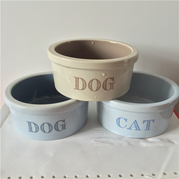 Customized decal printing ceramic pet bowls,ceramic cat/dog bowl