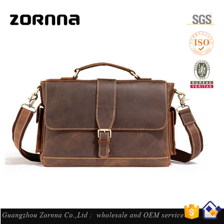 Guangzhou Tactical Very cheap Genuine Retro Two sided Strap Vintage Leather Shoulder Messenger Bag