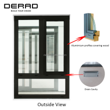 Classic Style Aluminium&Wood Window Aluminium Window Frame And Glass Manufacturing
