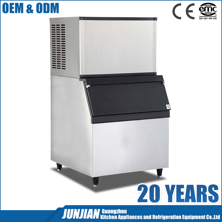 Guangzhou manufacturer high capacity multifunctional large split commercial cube ice maker