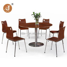 Restaurant 6 Seater Round Dining Table and Chair Set