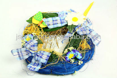 hanging Rattan easter flower decoration