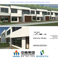 Steel Material and House,Office,Villa Use Prefab villa 145SQM (145SFT)