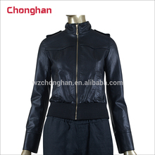 Chonghan 2017 Newest Arrival XXXL Size Woman Winter Pu Leather Jackets For Sale