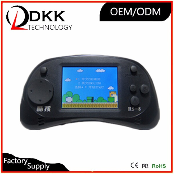 Newest 2.5 inch color screen handheld game console build in 260 classical different mini games children play game