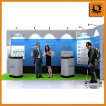 light duty hologram display trade show, freestanding acrylic brochure holder