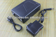 12v rechargeable battery 9800mah 12V / 5V output with charger