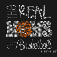 the real moms of basketball rhinestone motif for clothing accessories