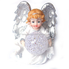religious angel with led ball light