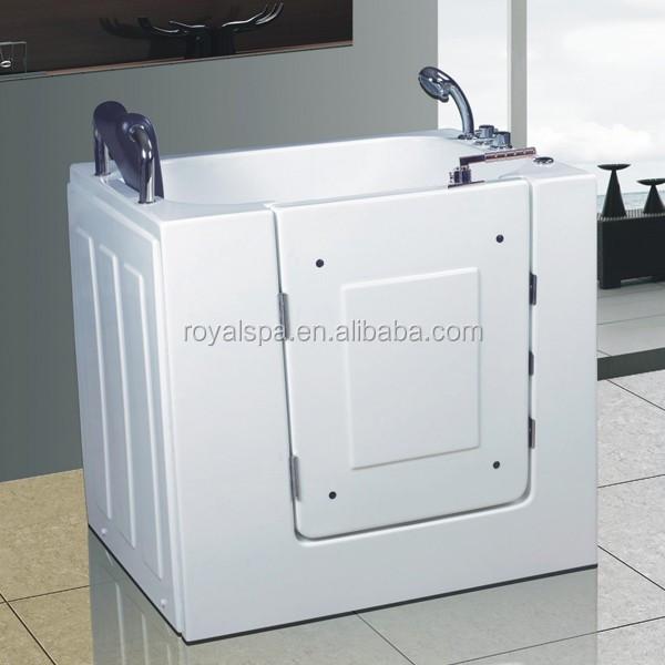Elderly walk in very small bathtub buy walk in tub walk - Handicap bathtub shower combo ...