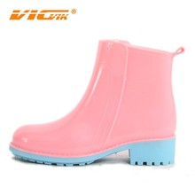 2017 Rain Boots Women Custom Clear Cheap Pvc Transparent Manufacturer Jelly Ankle Shoes Design Your Own Rain Boots China D111