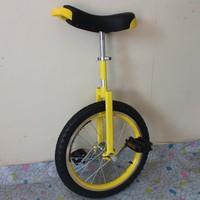 Motorcycle 18 inch monocycle with one wheel Single wheel bicycle Yellow color Double Alloy rim CE/ASTM F963-11