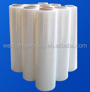 2015 hot sale plastic pe stretch film for pallet wrapping
