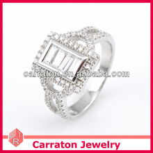 Silver Jewellery Online Wholesale White Topaz Mens Promise Ring
