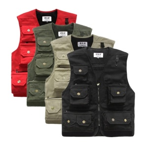 Wholesale Multifunctional New Cotton Leisure Outdoor Sports Hunting Fishing Vest