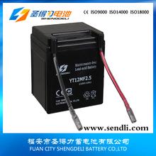 fujian starting motorcycle battery 12v2.5ah