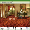 Elegant style red color wooden art parquet flooring indoor