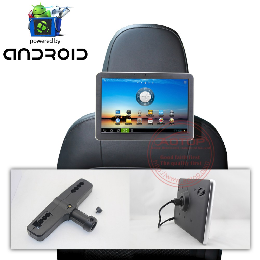 Auto Rear seat entertainment 10.1 inch lcd android car headrest monitor
