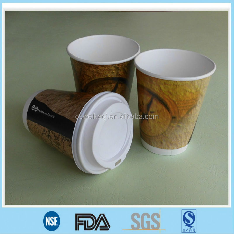 Double wall cups for hot drinks/ Double cups for hot coffee/ hot coffee double paper cups lids