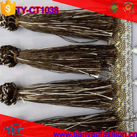 cheap price good sales wholesale long tassels tieback fringe for curtain