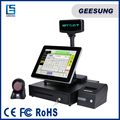 Supermarket Cash Register Linix Pos Terminal 15 Inch Pos System Complete All In One