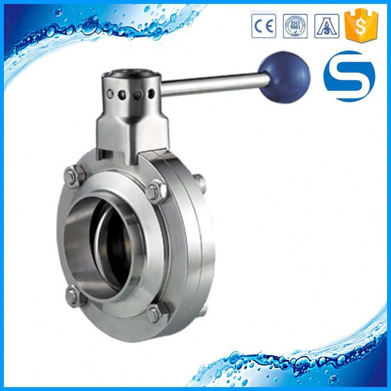 China Manufacture 1pc butterfly stainless steel ball valve