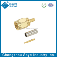 rf straight crimp type sma plugs connector