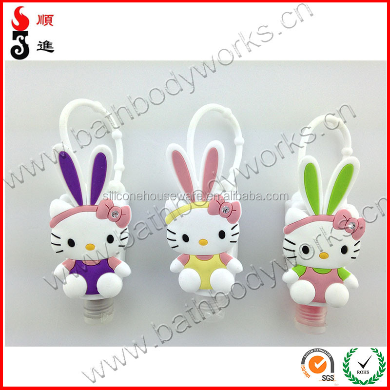 Hello kitty wholesale hand sanitizer silicone holders for promotional items