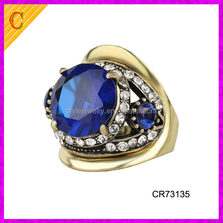 CR73135 Art Deco Diamond 16k Gold Engagement and Proposal Ring 1 Carat Sapphire Diamond Ring Price