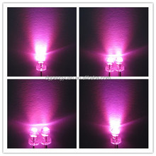 high bright hot sale 5mm pink emitting led diode