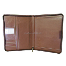 Leather Writing Portfolio Cover A4 Clear File Folder Document Holder