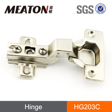 Slide on one way double action hinges