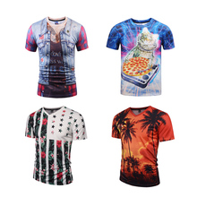 Custom Factory Price Men's Polyester Sublimation Digital Printing 3d T-Shirts