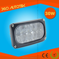 Super bright 30w Squrae Led Work Light 5.5inch Beam Offroad Light For Truck,Agricultural Vehicle