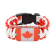 fashion canada flag dog tag king cobra weave paracord survival bracelet