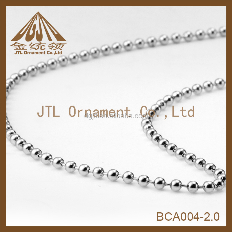 fashion high quality 2mm ball chain in bulk