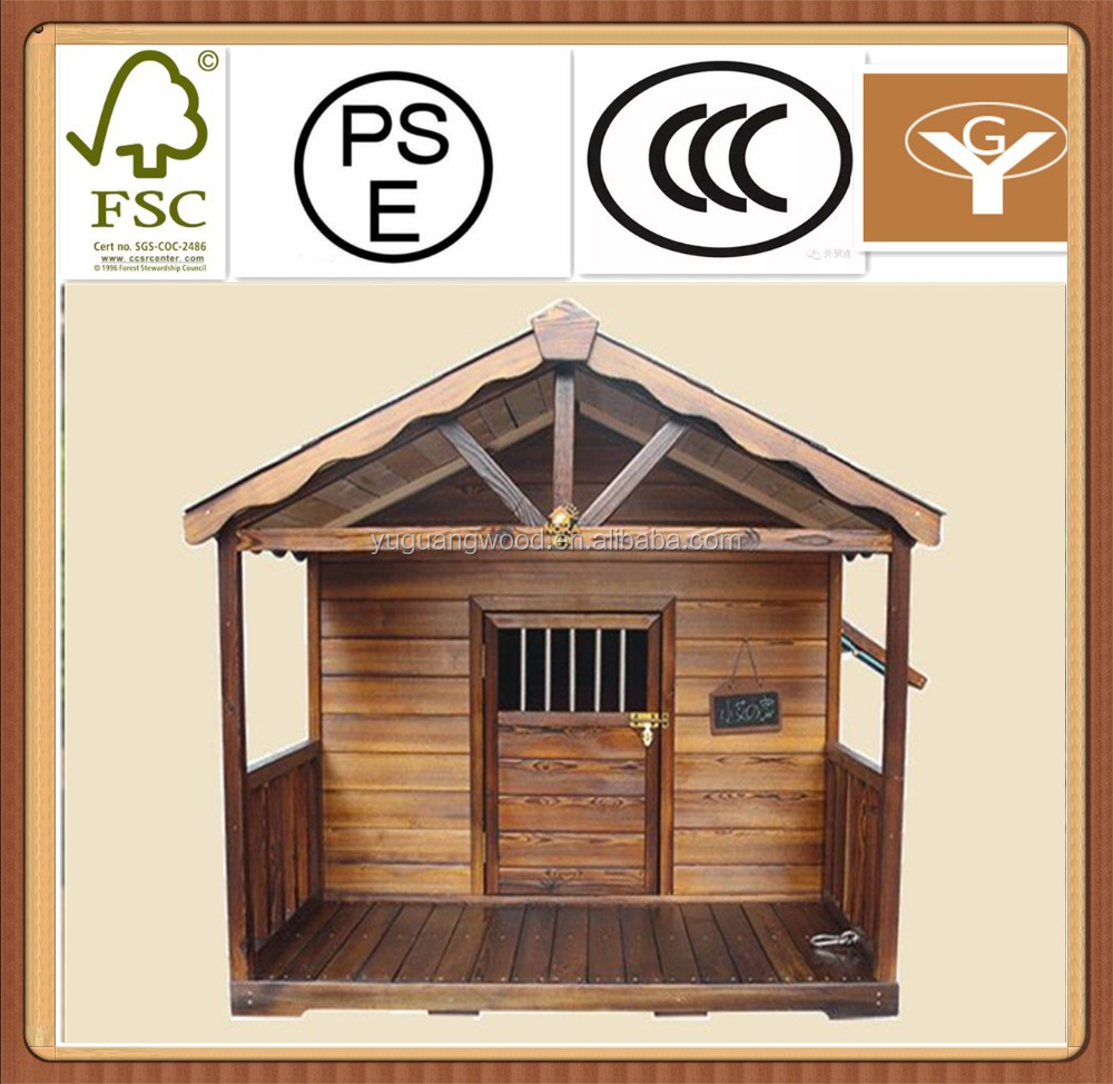 carbonized light color wooden pet house