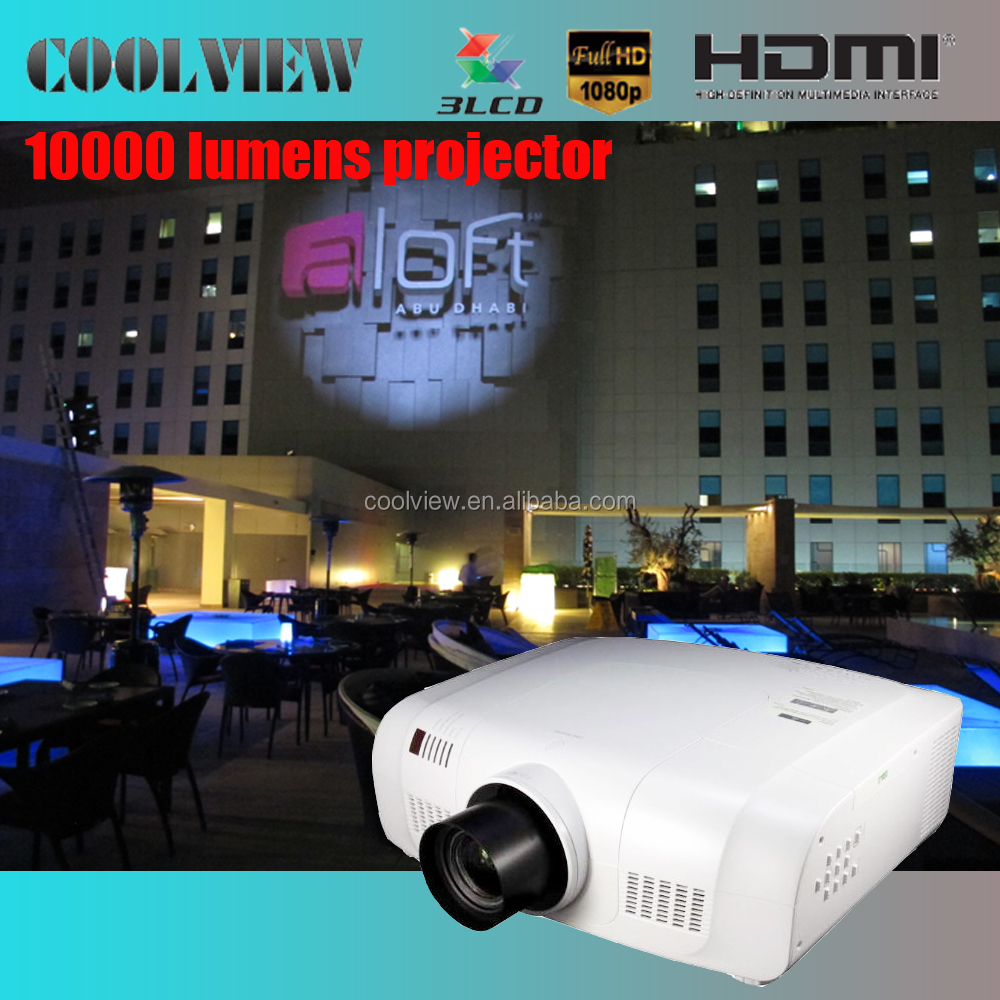 edge blending built in LCD native 1080P 10000 lumens large venue <strong>projector</strong>
