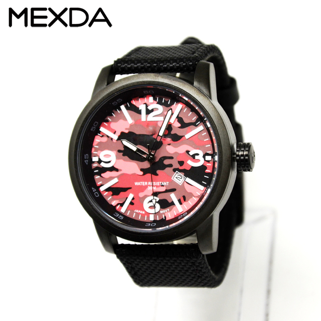 Custom own logo outdoor sport 30m Water Resistant mens military army camouflage japan movt watch for sale