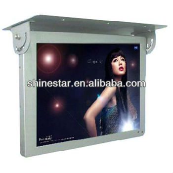 22inch shakeproof Bus coach LCD multiMedia AD screen display with roof fixing