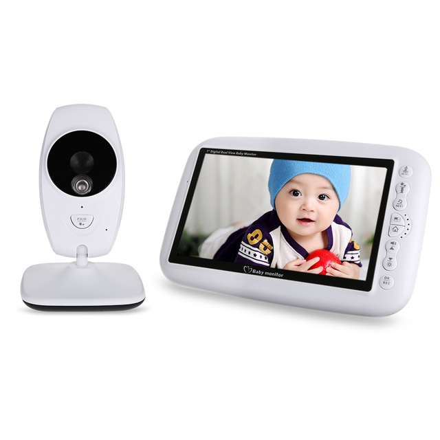 LCD Dual View Video Baby Monitor Infrared Night Vision Temperature Detection Baby Monitor