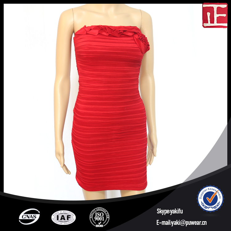 2017 Wholesale Cheap Red Elegant Ladies Formal Office Dresses