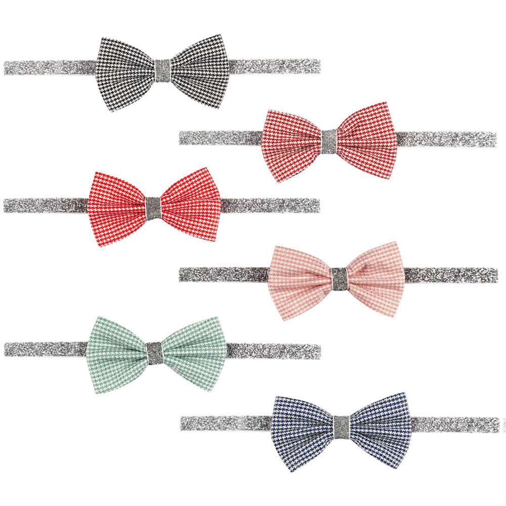 Girls hair bow nylon headbands newest fabric bow on headbands HD-1609073