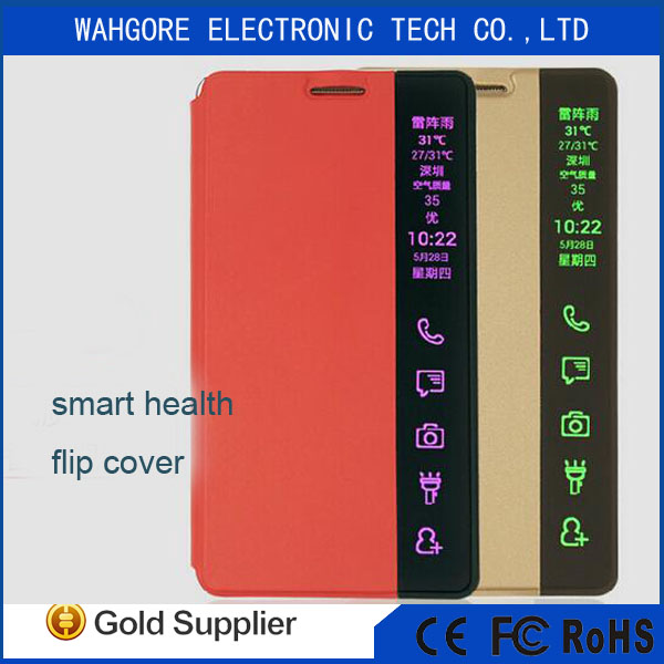 Smart health flip cover for s6 edge case golden/black/red/blue/ping/OEM